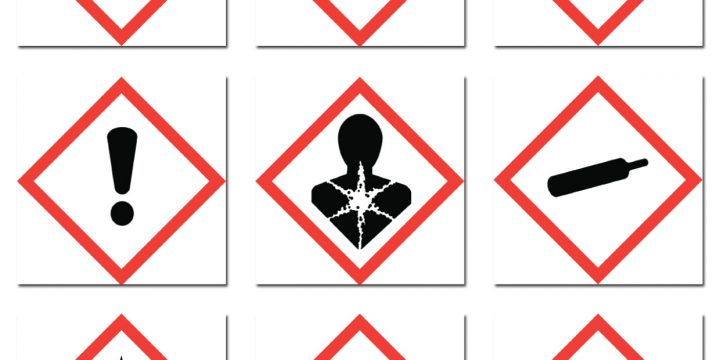 Chemical Hazard Symbols for Labels